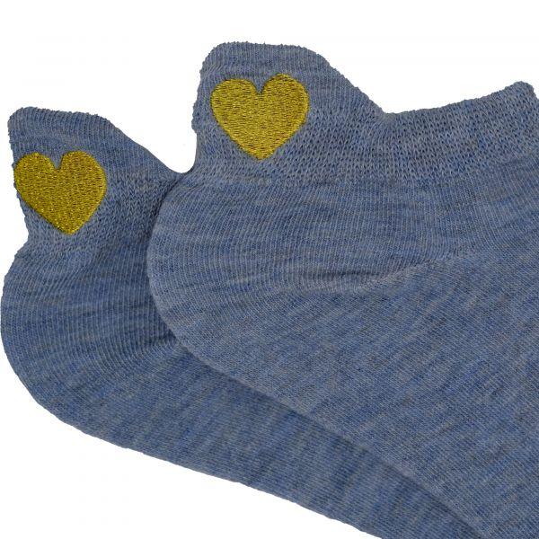 golden heart sneakersöckcen