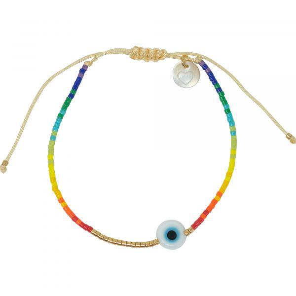 Rainbow eye armband