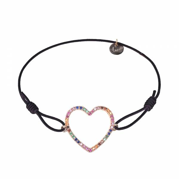Rainbow heart armband