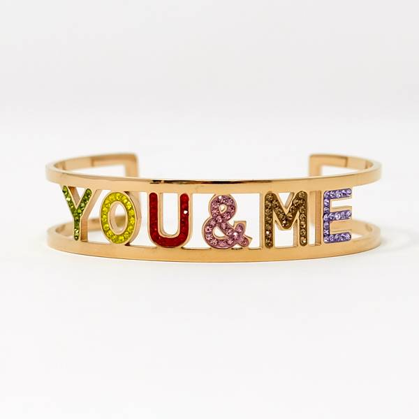 You & Me rosegold Armreif