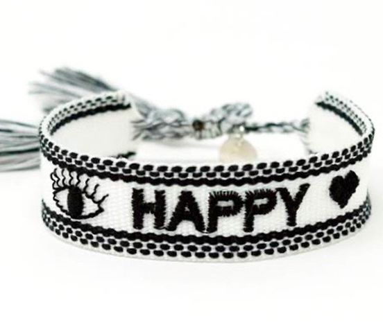 white happy armband ttm