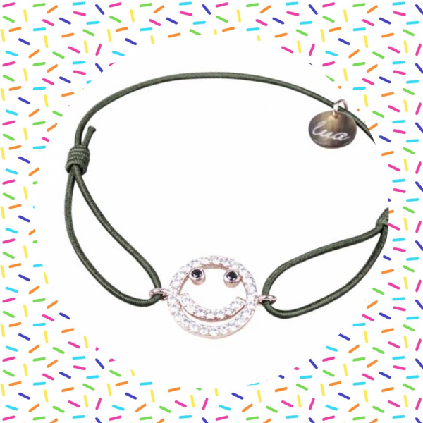 happy face armband rose