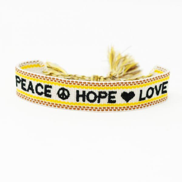 peace hope love armband ttm