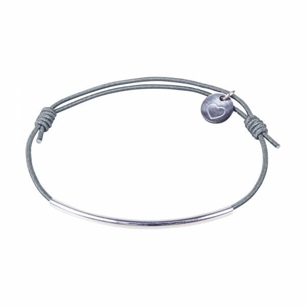 mini curve armband silber