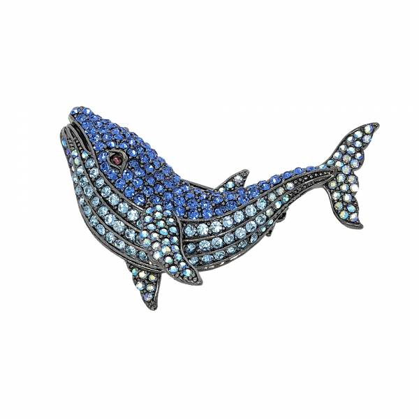 Whale 2 Brosche