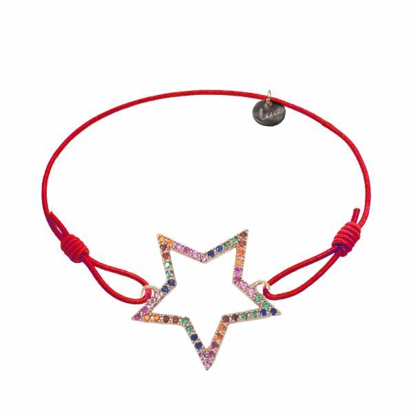 rainbow star armband